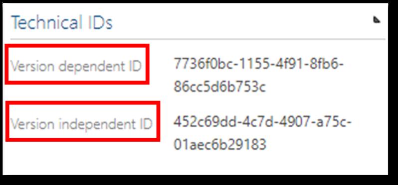 technical ID