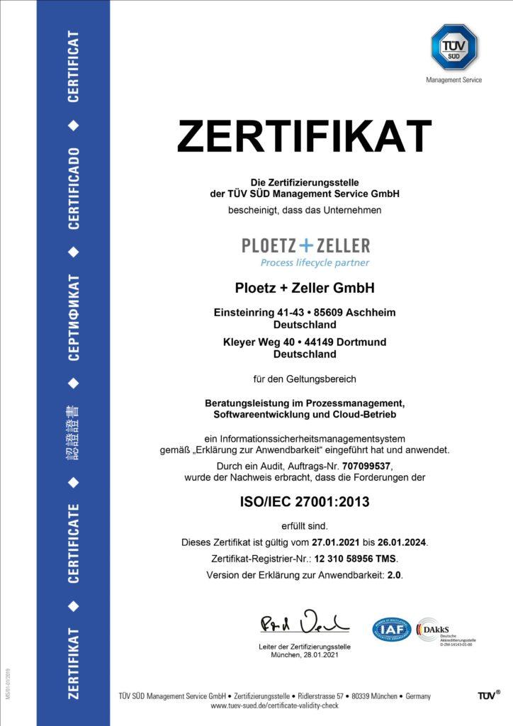 ISO 27001 Zertifizierung Symbio